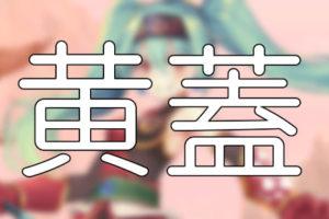 放置少女「黄蓋」評価&考察【SR副将/限定特典】
